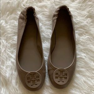French Gray Tory Burch Minnie Travel Ballet